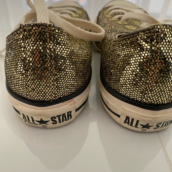 Converse Shoes | Sparkly Gold | Poshmark
